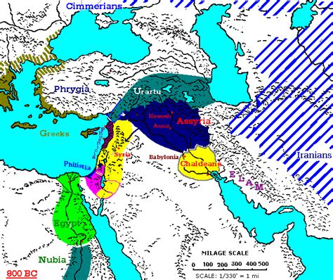 middle east map bc 800 700 bc