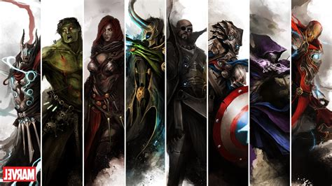 marvel comics the avengers wallpapers hd desktop and