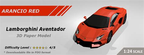 Papercraft Lamborghini - best papercraft car template aventador inspired 3d
