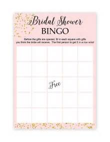 Free Printable Bridal Shower Templates by Blush And Confetti Bridal Shower Bingo Chicfetti Weddings