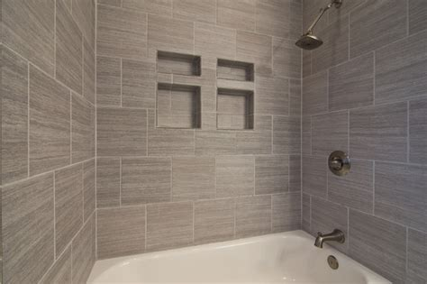 bathroom with gray tile gray tile horizontal contemporary bathroom other