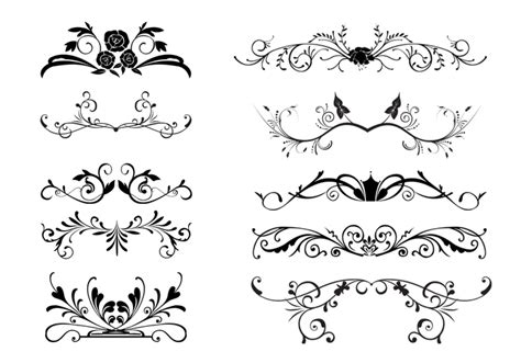 Wedding Border Photoshop Brushes by 10 Floral Ornamental Border Brushes Free Photoshop