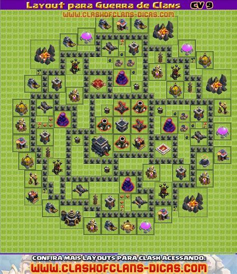 layout push cv 9 layouts cv9 para a guerra de clans clash of clans dicas