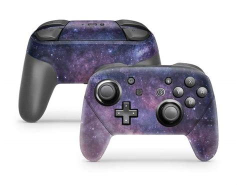purple galaxy nintendo switch pro controller skin