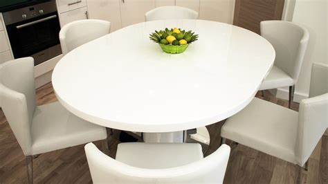 White Extendable Dining Table And Chairs Modern White Gloss Extending Dining Table And Chairs