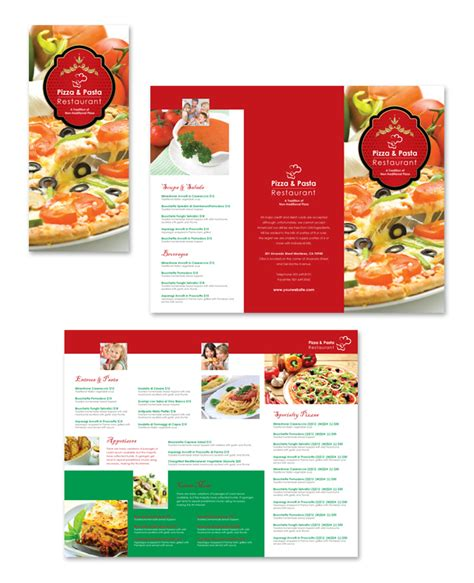italian restaurant take out menu template