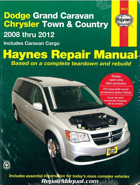 dodge grand caravan chrysler town country van 2008 2012 haynes car repair manual