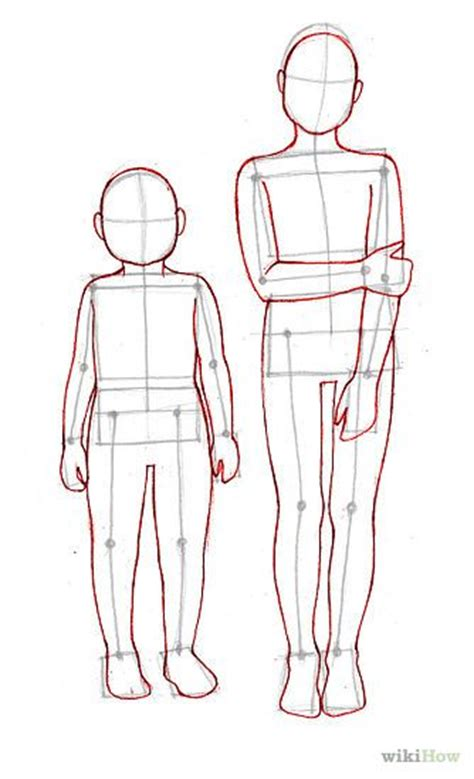draw children body template draw and pictures