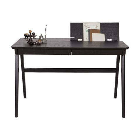 black wooden computer desk clarion wooden computer desk in black with 2 drawers 27576