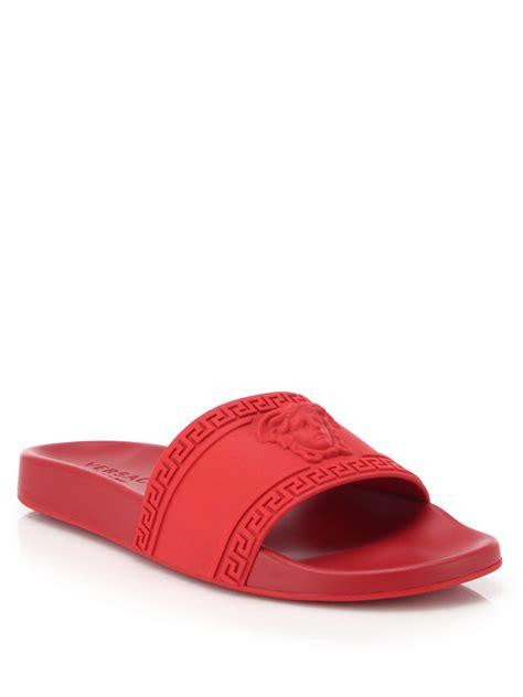 versace sandals versace medusa slide sandal in for lyst