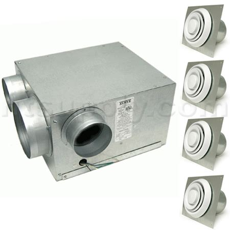 Bathroom Exhaust Fan Soffit Vent Kit Aldes Bath Fan Kit With Multi Port Exhaust Fan And 4