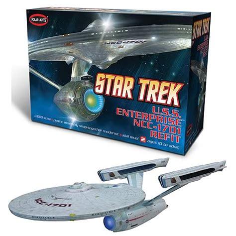 starship enterprise model with lights trek uss enterprise ncc 1701 refit 1 1000 scale model