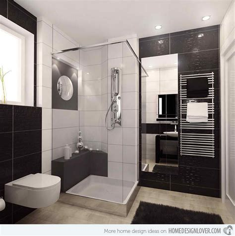 modern guest bathroom ideas 20 sleek ideas for modern black and white bathrooms home design lover