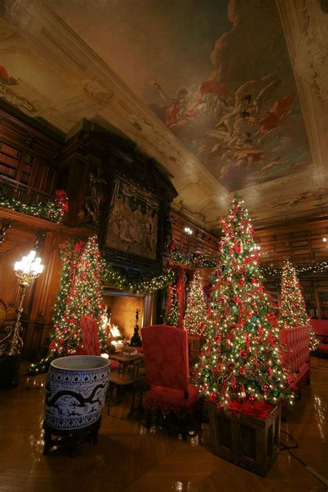 homes decorated for christmas on the inside a biltmore christmas the library inside biltmore house