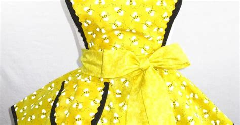 sewing bee apron yellow bumble bee apron with gingham inspiration for a