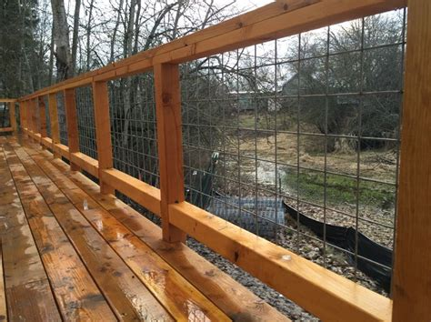 Hog Panel Deck Railing by 17 Best Images About Deck On Stains Platform