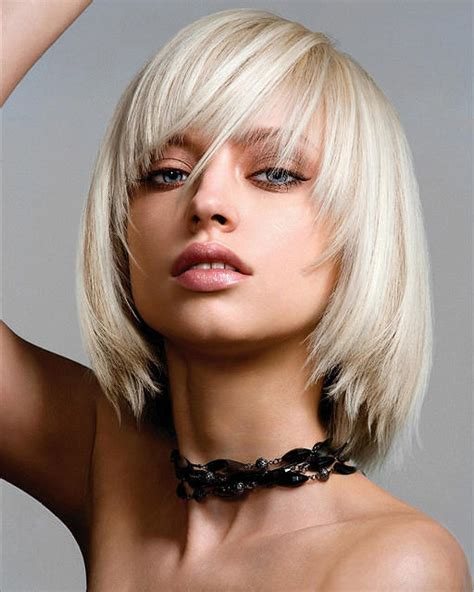 blonde bob with fringe blonde bob hairstyles with a fringe hair world magazine