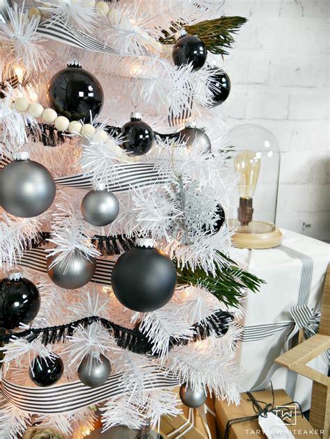 modern black  white christmas tree taryn whiteaker