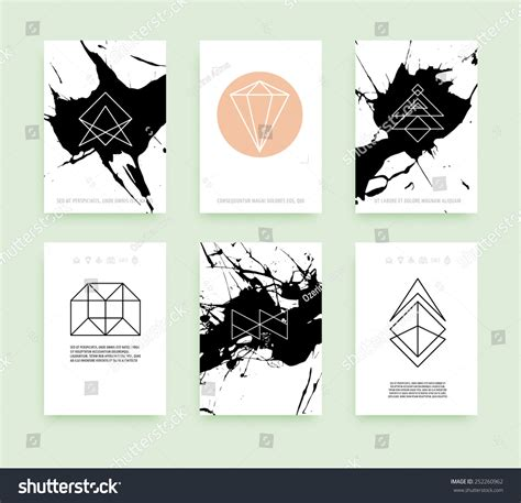 symbols business card templates set of business card templates line geometric