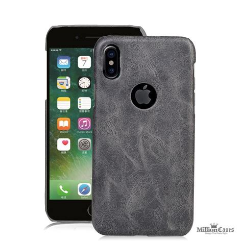 Iphone X Ten 10 Leather Back Cover Casing Bumper Armor Keren leather retro protective back cover for apple iphone x million cases
