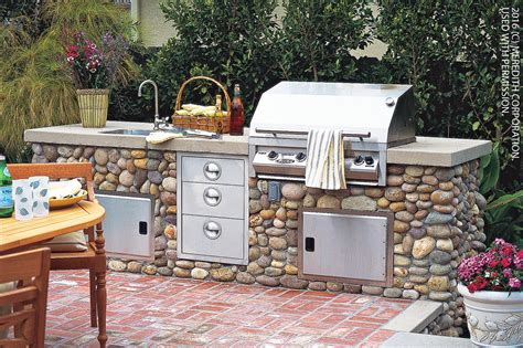 how to design an outdoor kitchen how to design a stylish outdoor kitchen better homes and gardens real estate life