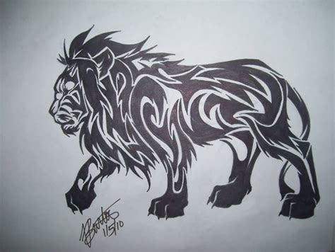 tribal lion tattoos tattoo collections