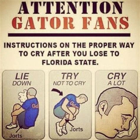 Funny Florida Gator Memes - quot gator hate quot week fsu best team in quot merica