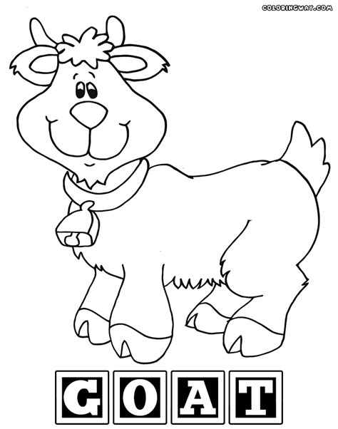 goat face coloring page easy faces coloring pages goat coloring pages