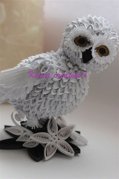A Snowy Owl Papercraft Resting On My Laptop By - creative may 2012