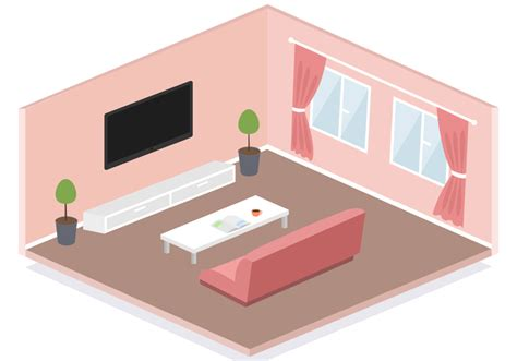 room layout vector free isometric living room vector download free vector