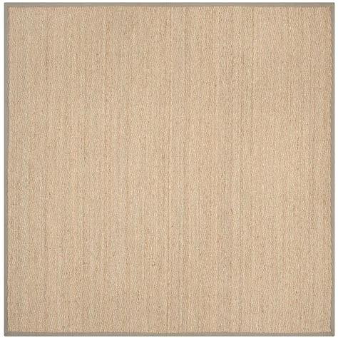 beige grey rug safavieh fiber beige grey 8 ft x 8 ft square area rug nf115p 8sq the home depot