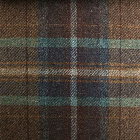 Tartan Plaid Upholstery Fabric by 100 Scotish Upholstery Wool Woven Tartan Check Plaid