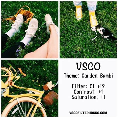 vsco nature tutorial garden bambi instagram feed using vsco filter c1