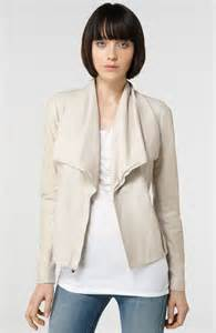 vince draped leather jacket would you rather a luxe leather jacket or a whole spring