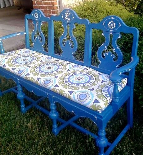 diy bench with cushion chairs upcycle to benches diy tutorials paint cushion