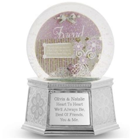 friends shadowbox musical snow globe findgift com