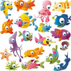 funny cartoon fish vector free download