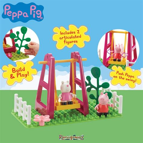 peppa pig swing peppa pig playground swing construction set