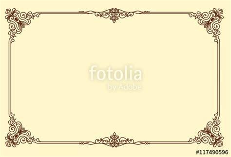 vintage floral frame powerpoint templates black border quot vintage frame retro decoration corner template design