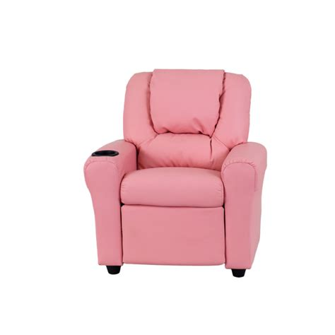 Pink Recliners by Pink Vinyl Recliner With Cup Holder And