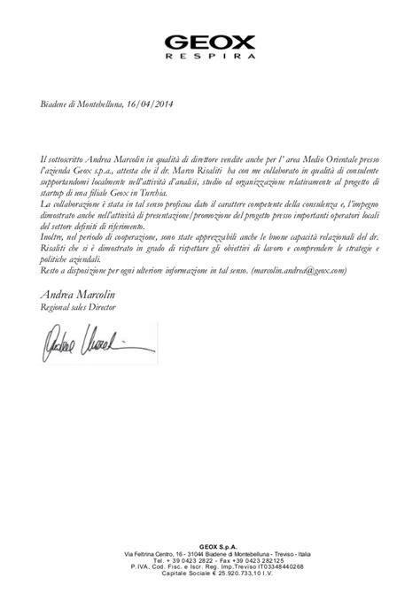 lettere di referenze fac simile lettera di referenze
