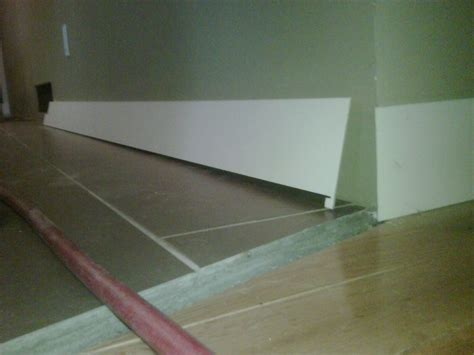 Baseboard Different Floor Heights by Baseboard Transition From Carpet To Tile Carpet Vidalondon
