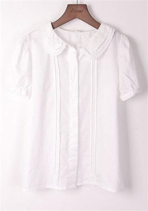 White Cotton Blouses For by White Cotton Sleeve Blouses Fashion Ql