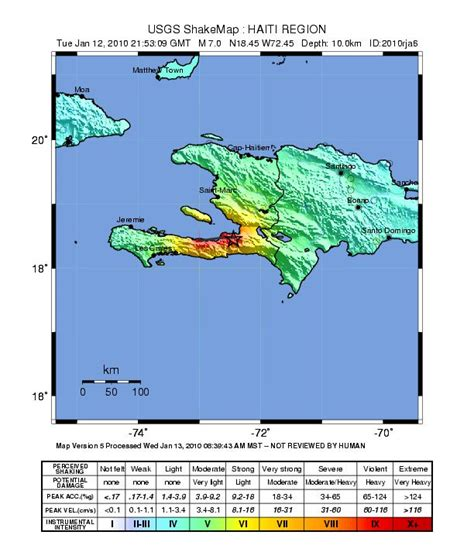 updated earthquake map shakes up risk zones maps of earthquake and aftershocks in haiti universe today