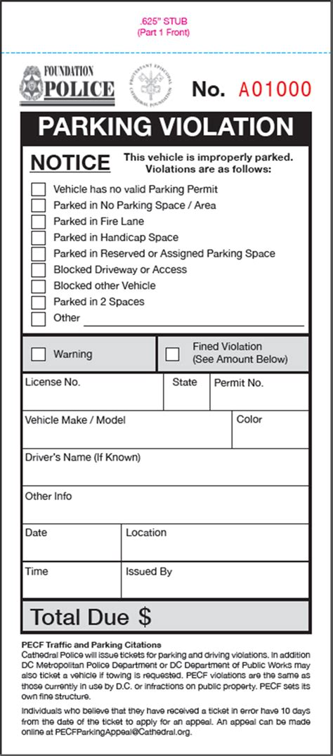 Parking Ticket Template by Parking Ticket With Attached Remittance Envelope For