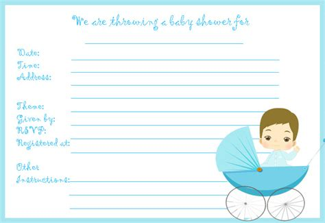 Cheap Printable Baby Shower Invitations