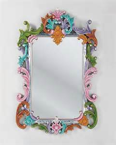 Mexican Painted Chairs Beautiful Mirror Design With Ethnic Colorful Frame