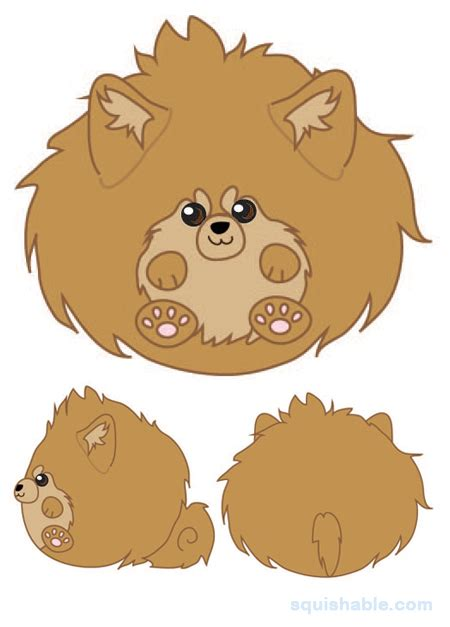 pomeranian puffball squishable squishable puffball pomeranian an adorable fuzzy plush to snurfle and