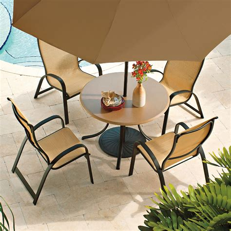 Telescope Casual Patio Furniture Telescope Casual Primera Sling Supreme Stacking Arm Chair 9000