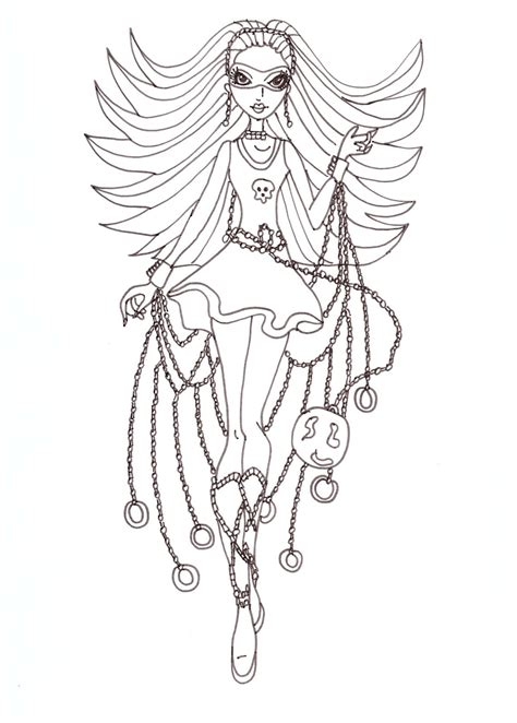 monster high spectra coloring pages free printable monster high coloring pages spectra polter